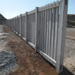 Concrete Palisade Fencing by Country Wide Walling 6