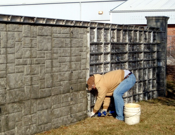outdoor concrete fence