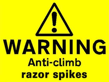 razor spike warning