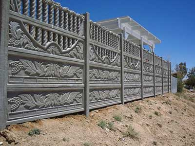 decorative concrete fence panel